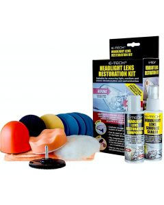 E-Tech Plastic Headlight Lens Restoration Kit