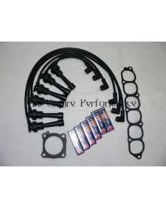 GTO and 3000GT Twin Turbo Spark Plug and HT Lead Service Kit Black