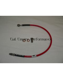 GTO and 3000GT Replacement Stainless Steel Braided Clutch Hose Red