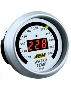 AEM 52mm Digital Water/Oil Temperature Display Gauge