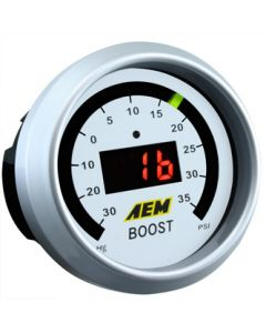 AEM 52mm Digital Boost Pressure -30>+35 PSI Display Gauge
