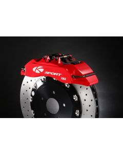 GTO and 3000GT K Sport Red Rear 4 Pot 330mm Brake Kit with Handbrake and Pads Black