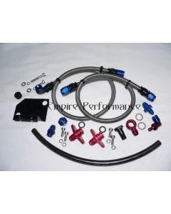 GTO & 3000GT Aeromotive Fuel Pressure Regulator Fitting Kit Stainless Steel Hose