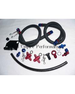 GTO & 3000GT Aeromotive Fuel Pressure Regulator Fitting Kit Black Textile Hose