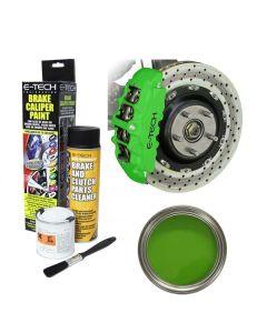 E Tech Brake High Temperature Caliper Kawasaki Racing Green