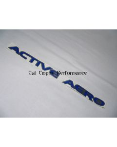 "GTO and 3000GT ""Active Aero"" Front Aero Tray Sticker In Blue"