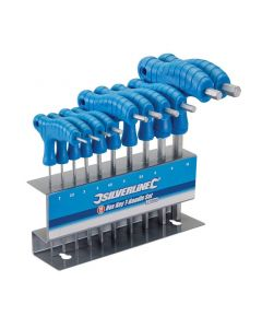 10 Piece T Handle Hex Allen Key Wrench Tool Set Sizes 2-10mm with Stand