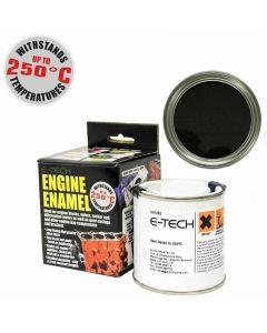 BLACK Engine Enamel Paint Heat Resistant High Temp 250ml