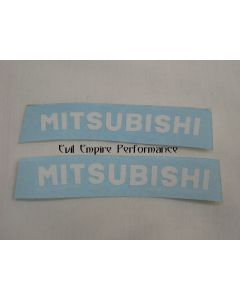 "GTO and 3000GT ""Mitsubishi"" Front Caliper Stickers (Pair)"