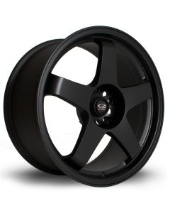 "Rota Flat Black GTR 18""x8.5"" Wheel Package"