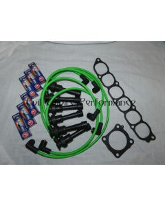GTO and 3000GT Twin Turbo Spark Plug and HT Lead Service Kit Green
