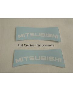"GTO and 3000GT ""Mitsubishi"" MK1 Rear Caliper Stickers (Pair)"